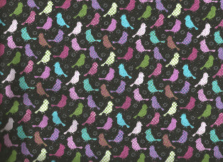 Birds on Black Cooling Neck Wrap