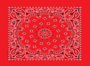 Classic Bandana Paisley Red (NON-COOLING)