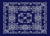 Classic Bandana Deluxe Navy Paisley (27x27-inch NON-COOLING)