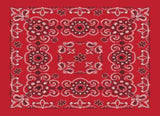Classic Bandana Deluxe Red Paisley (27x27-inch NON-COOLING)