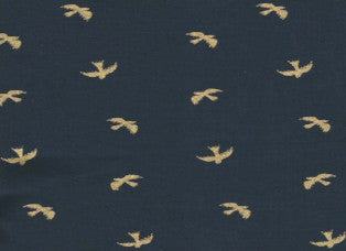 Gold Birds on Navy Cooling Neck Wrap