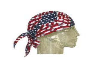 Hyperkewl Cooling Skull Cap USA Flag