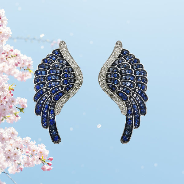 Butterfly Heart Earring