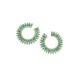 Emerald Noor Hoops
