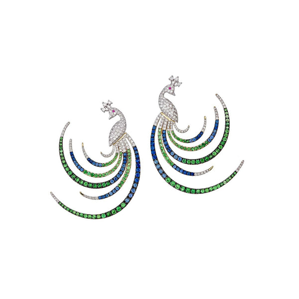 Dancing Peacock Earring
