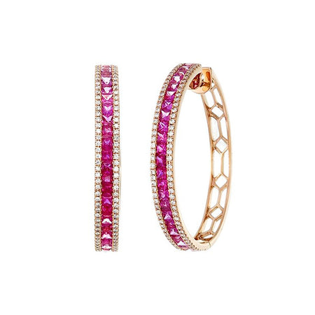 Shades of Pink Hoops
