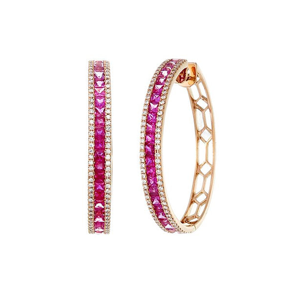 Shades of Pink Hoop
