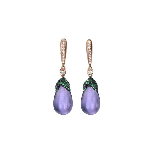 Gem Drop Earring