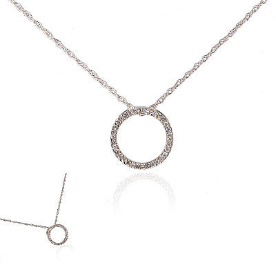 "14K Yellow Gold and Diamond ""Circle of Life"" Necklace"