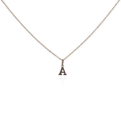 18K Yellow Gold Initial Necklace