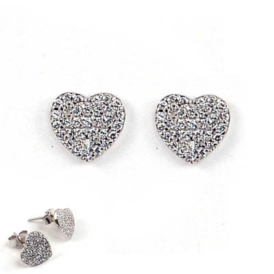 Vermeil Heart Earrings with Cubic Zirconia