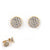 Cubic Zirconia Vermeil Disc Earrings