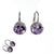 Diamond, Amethyst and Sterling Silver French Wire Earrings