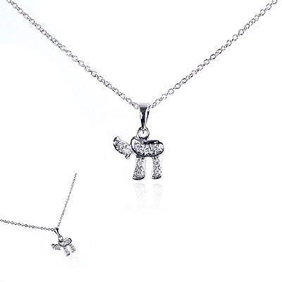 14K White Gold and Diamond Chai Necklace