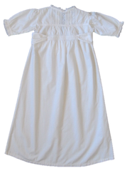 Floral lace Edwardian Christening Gown