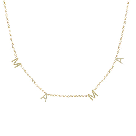 14K OPEN STAR AND MOON LARIAT NECKLACE