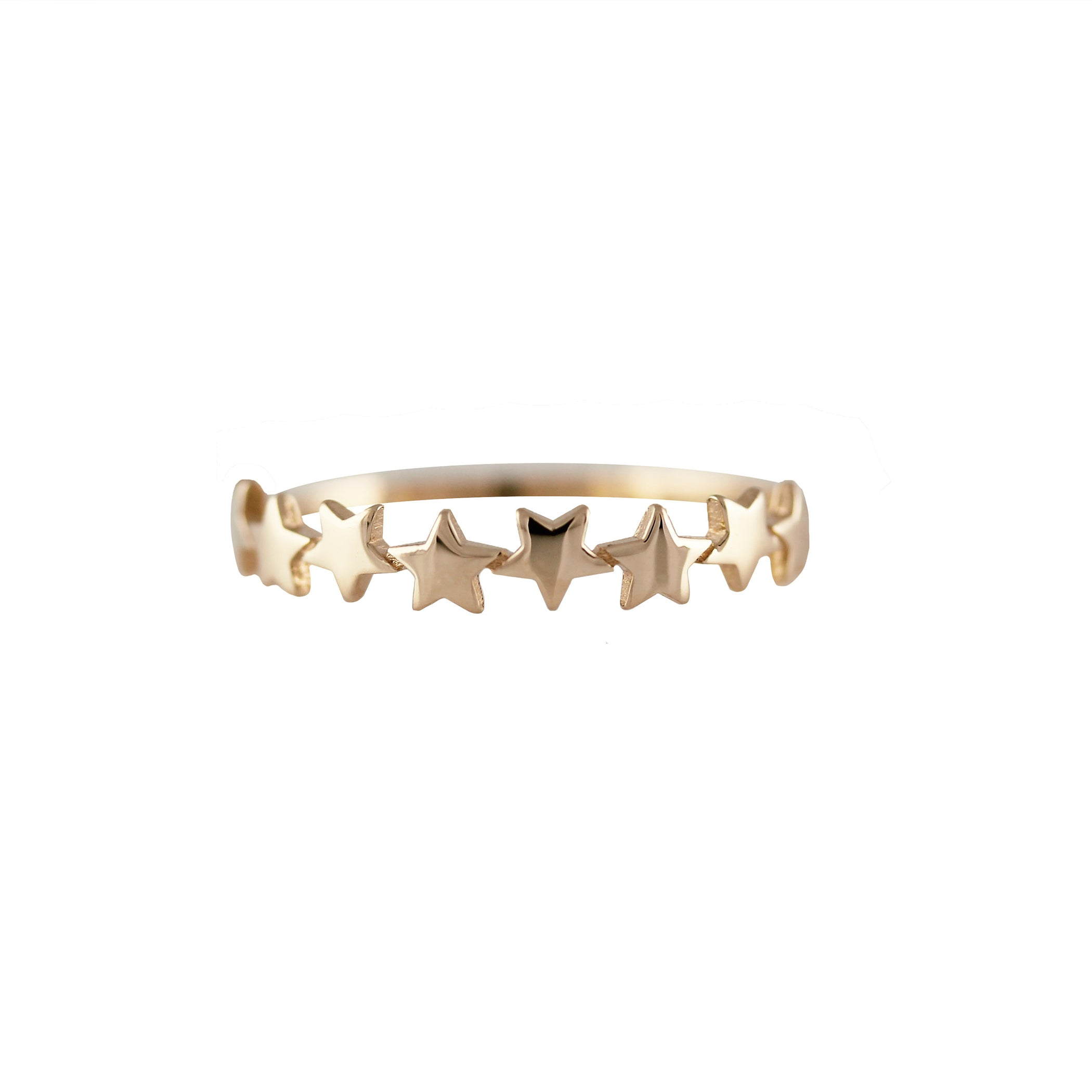 14K MULTI STARS STACKABLE RING
