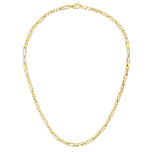 "14K 18"" THICK LONG LINK NECKLACE"