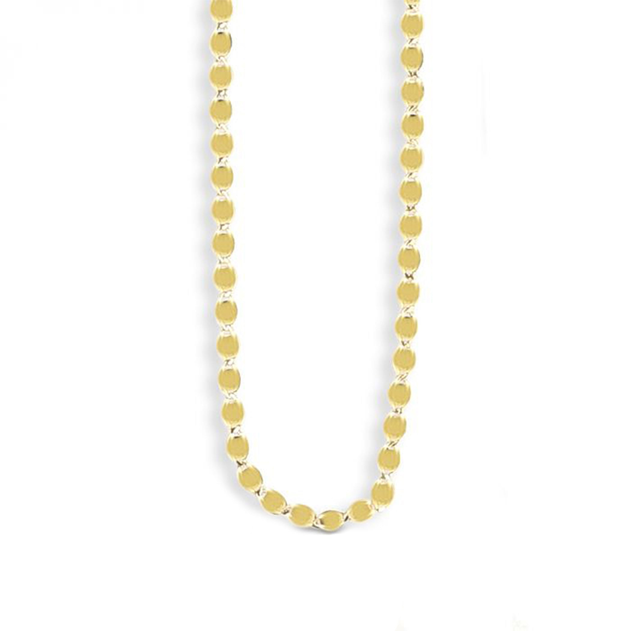 14K MIRROR VALENTINO CHAIN NECKLACE