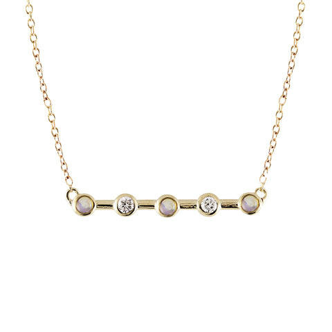6 DIAMOND PAVE BAR NECKLACE