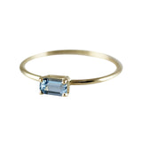 AQUAMARINE OCTAGON RING