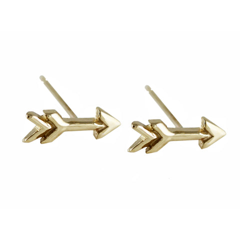 14K STAPLE 15MM STUDS
