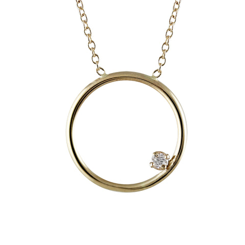 14K TINY CIRCLE NECKLACE