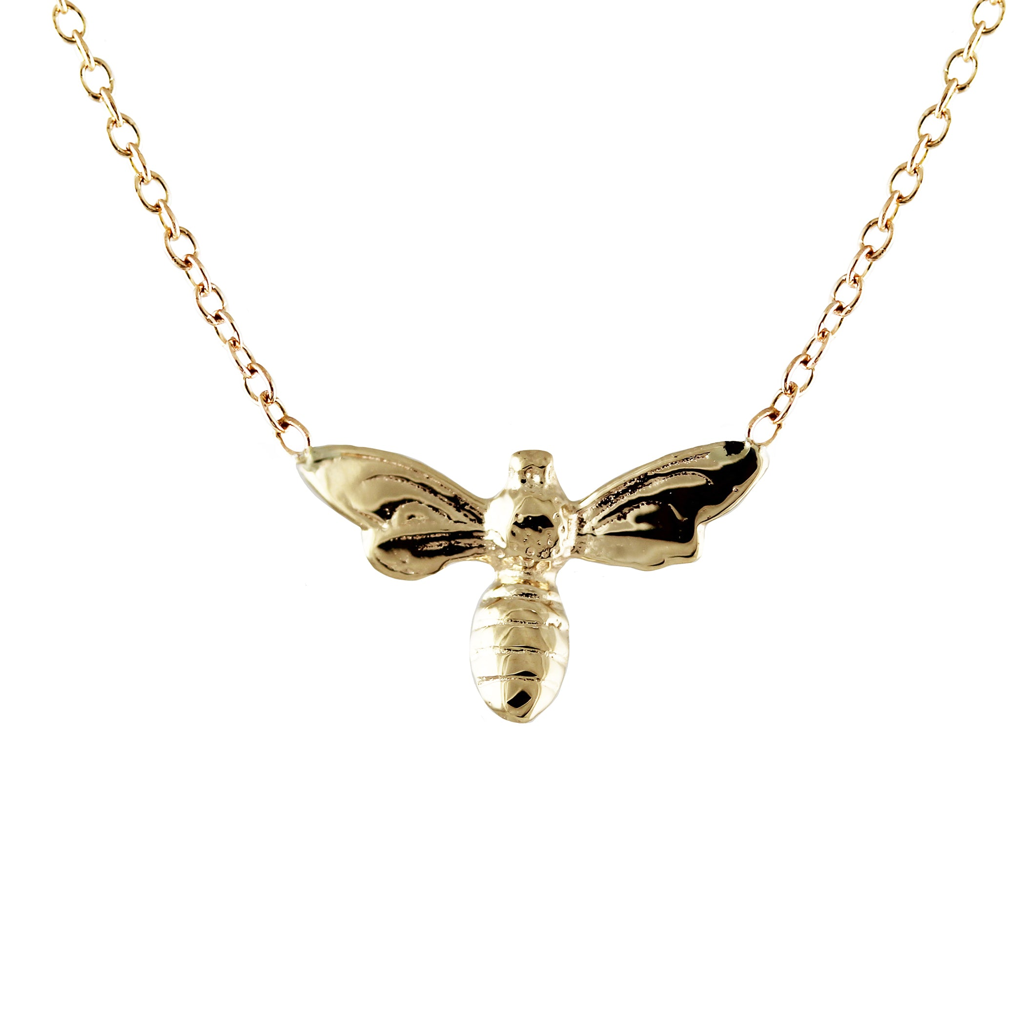14K BEE NECKLACE