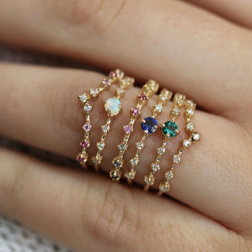 14K CELESTIAL BLUSH TIARA RING