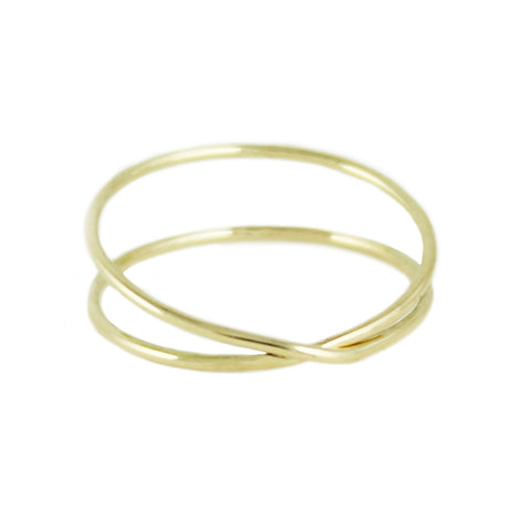 14K WIDE OPEN CUFF RING