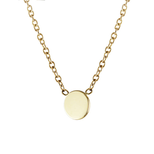 14K DISK NECKLACE
