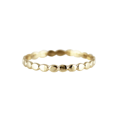 14K FLAT PEBBLE RING
