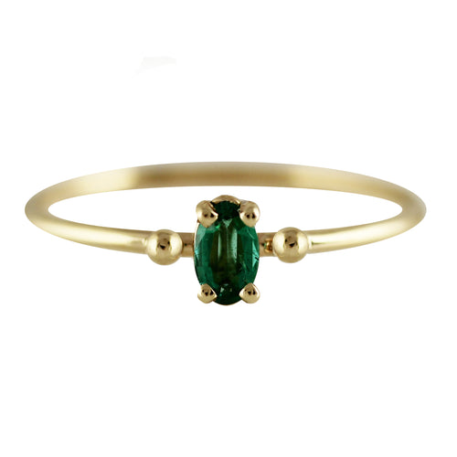 14K GAIA EMERALD RING