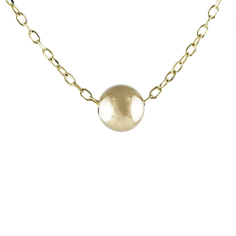 14K MOON AND DIAMOND NECKLACE