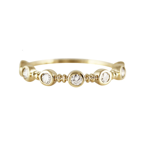 14K HALF ETERNITY TWIST DIAMOND BAND