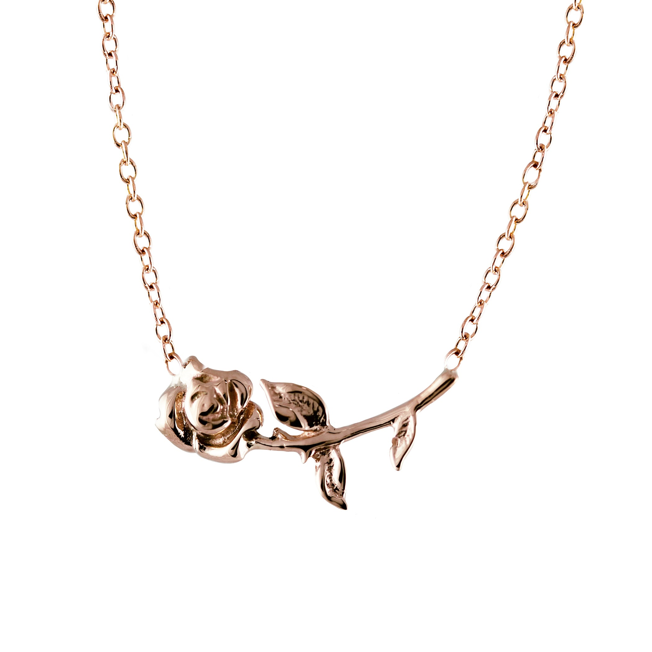 14K JULIET'S ROSE NECKLACE