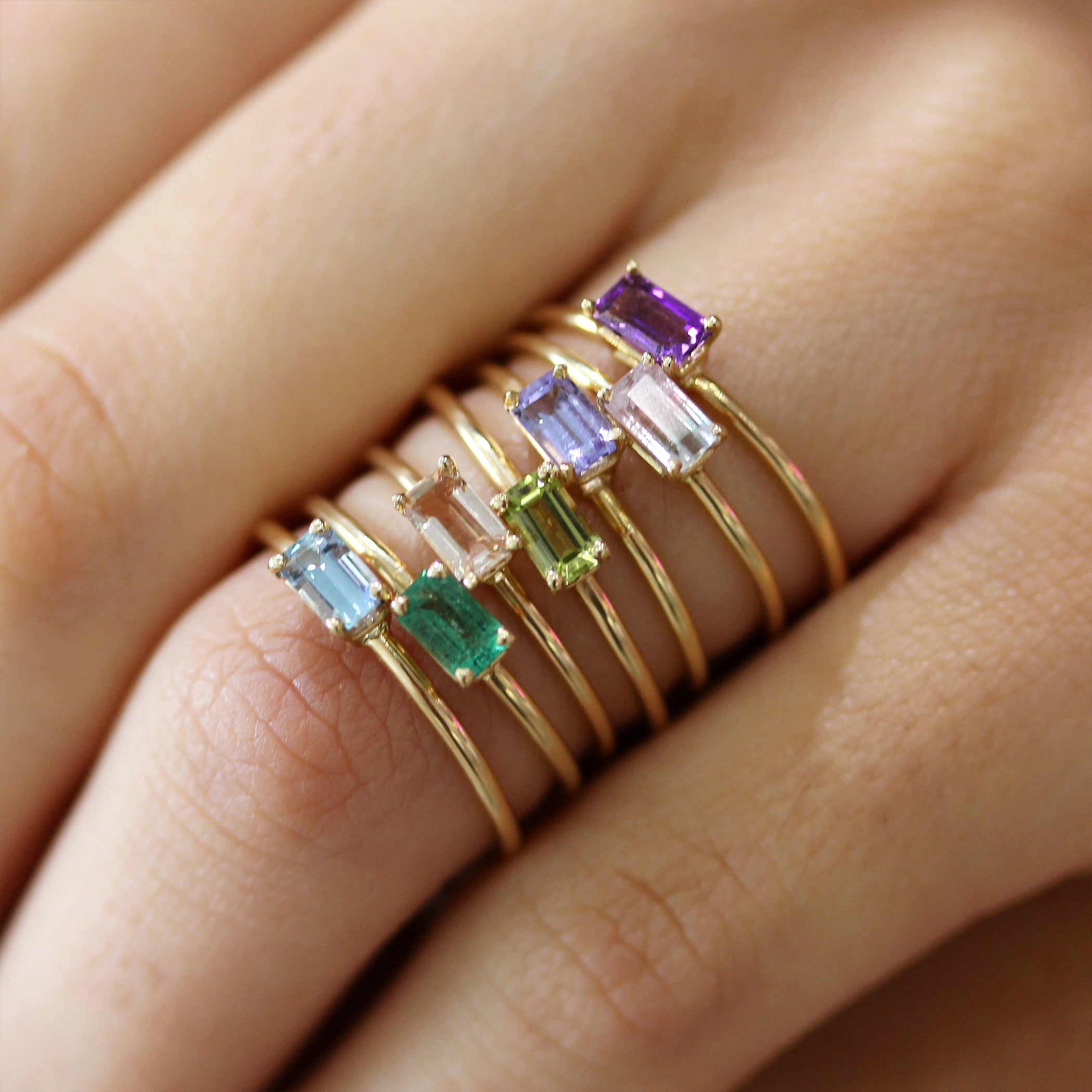 14K AMETHYST OCTAGON RING