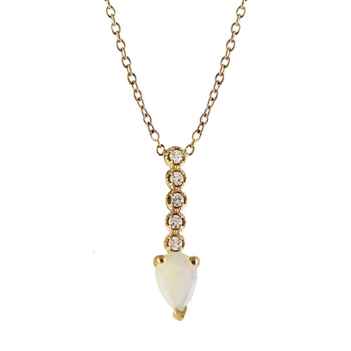 14K OPAL PENDULUM NECKLACE