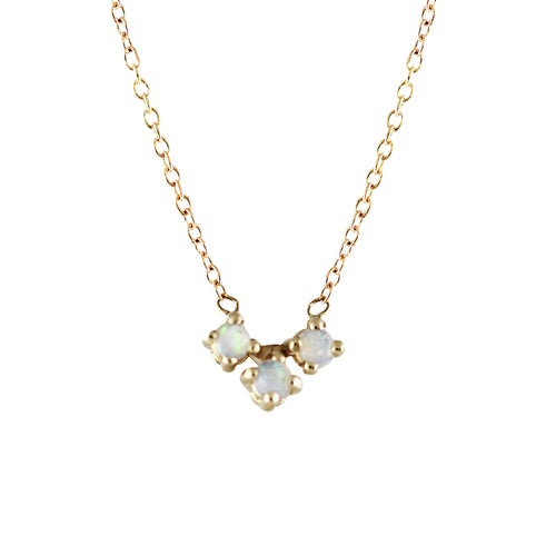 14K OPAL TRIO NECKLACE