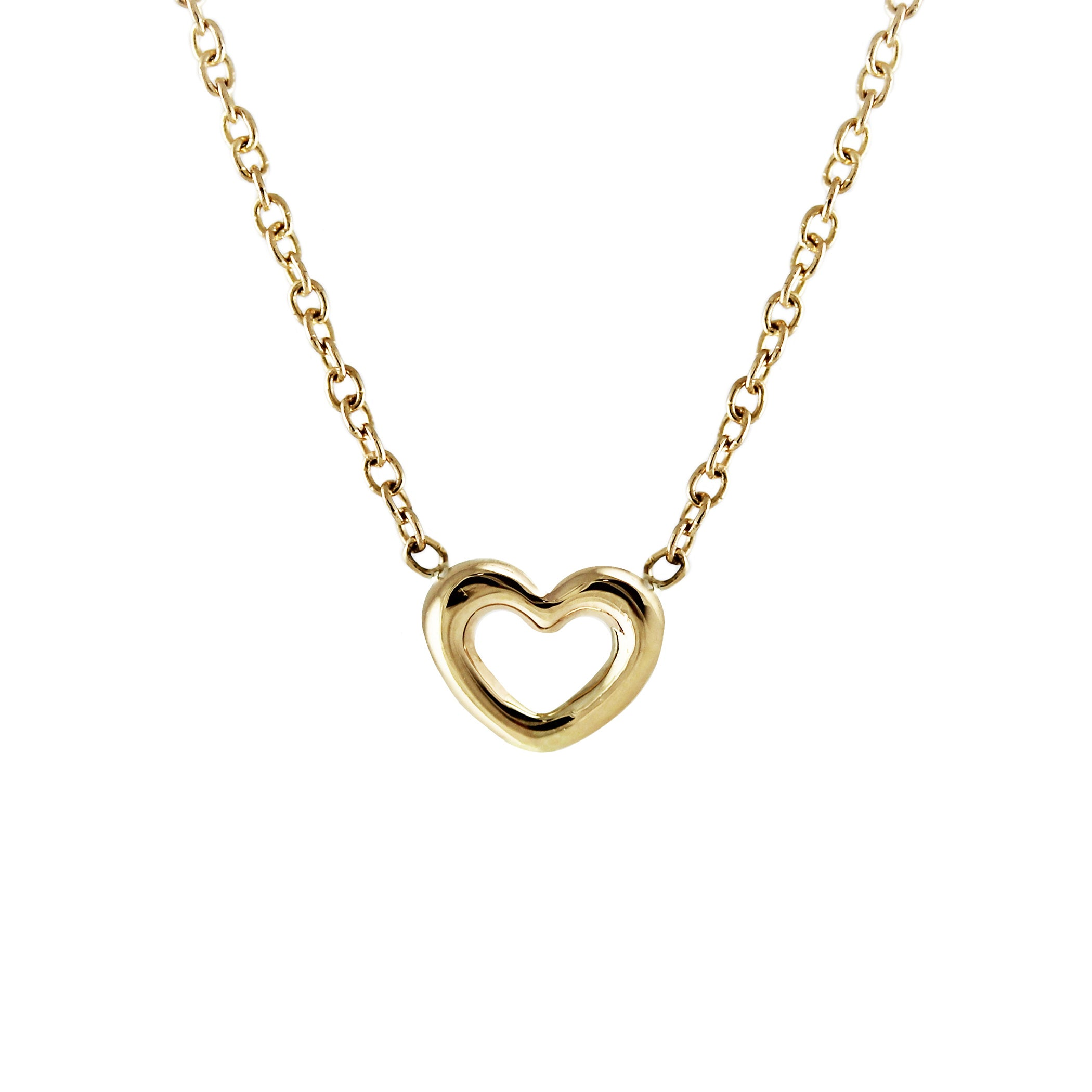 co pendant heart diamond tiffany lock necklace yellow gold mini