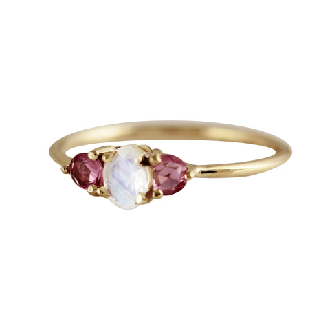14K HOLY ROSE CUT PINK SAPPHIRES RING