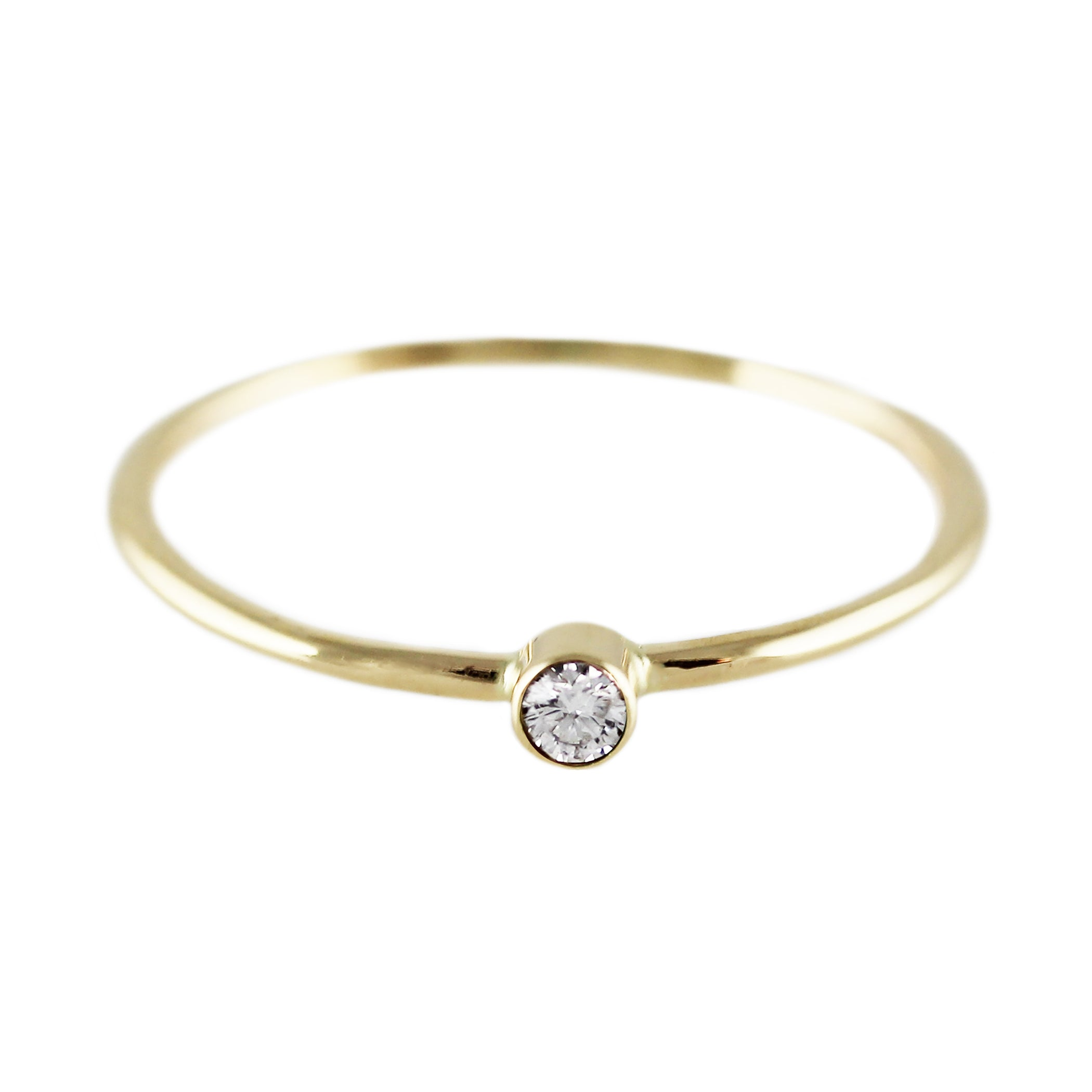 14K SINGLE DIAMOND RING