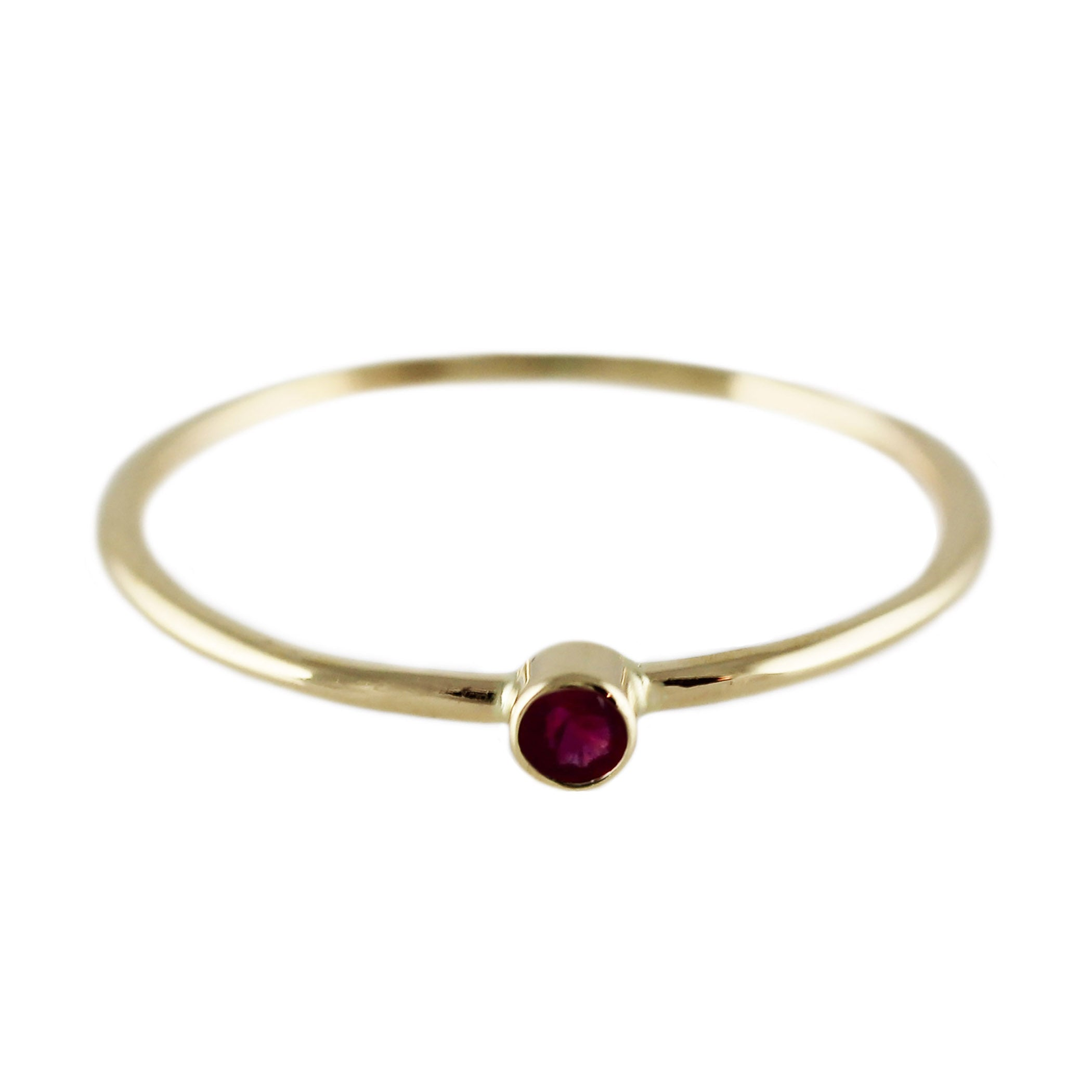 14K SINGLE RUBY RING