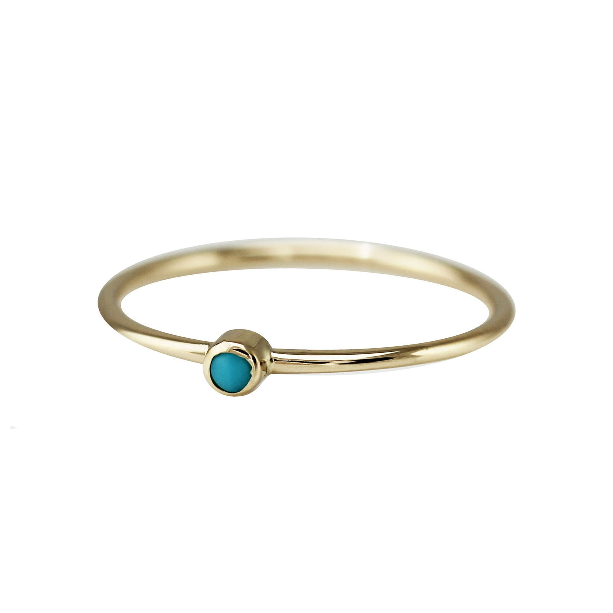 14K SINGLE TURQUOISE RING