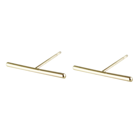 14K STAPLE STUDS 10MM