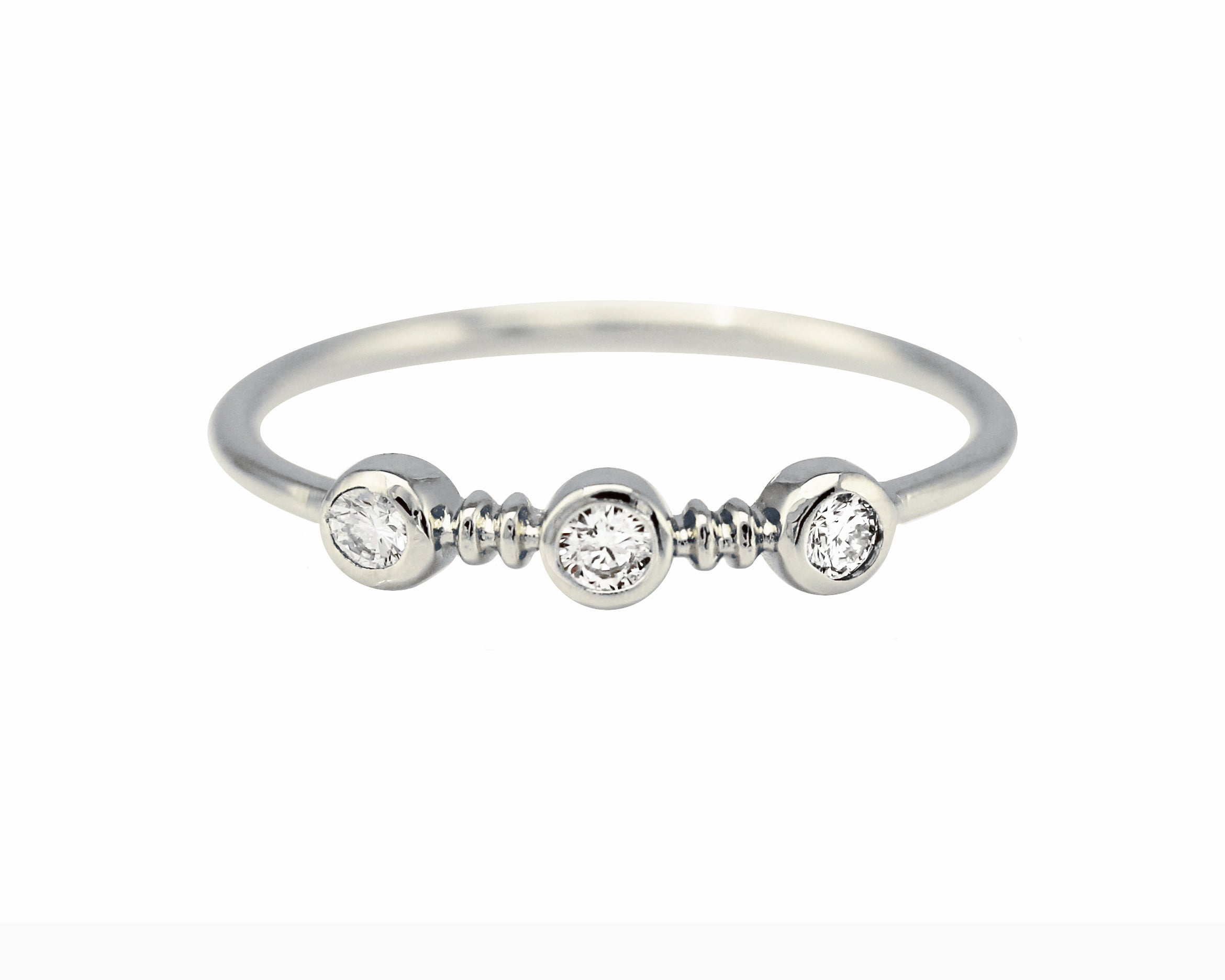 14K TWIST TRIO DIAMOND RING