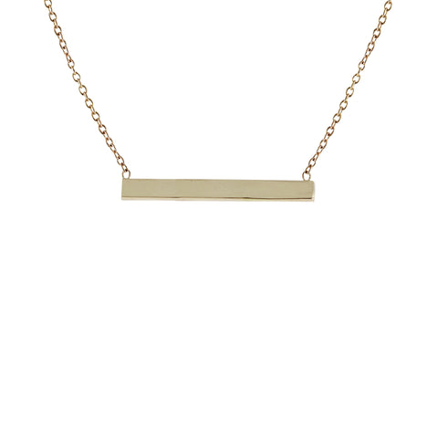 14K MEDIUM RAINBOW BAR NECKLACE