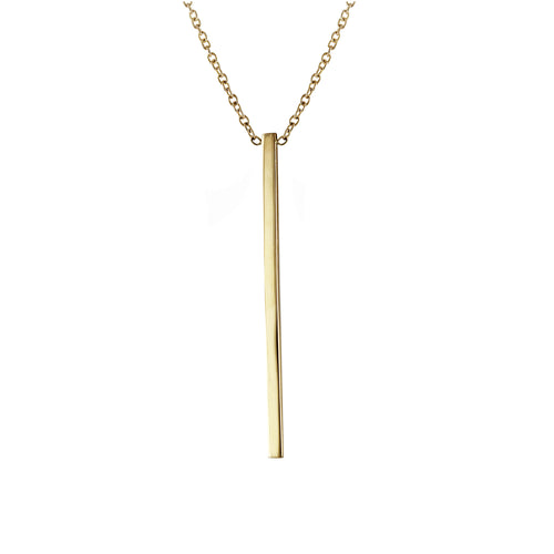 "14K 2"" VERTICAL BAR NECKLACE"