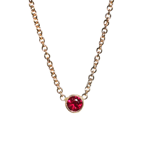 3 MM RUBY NECKLACE