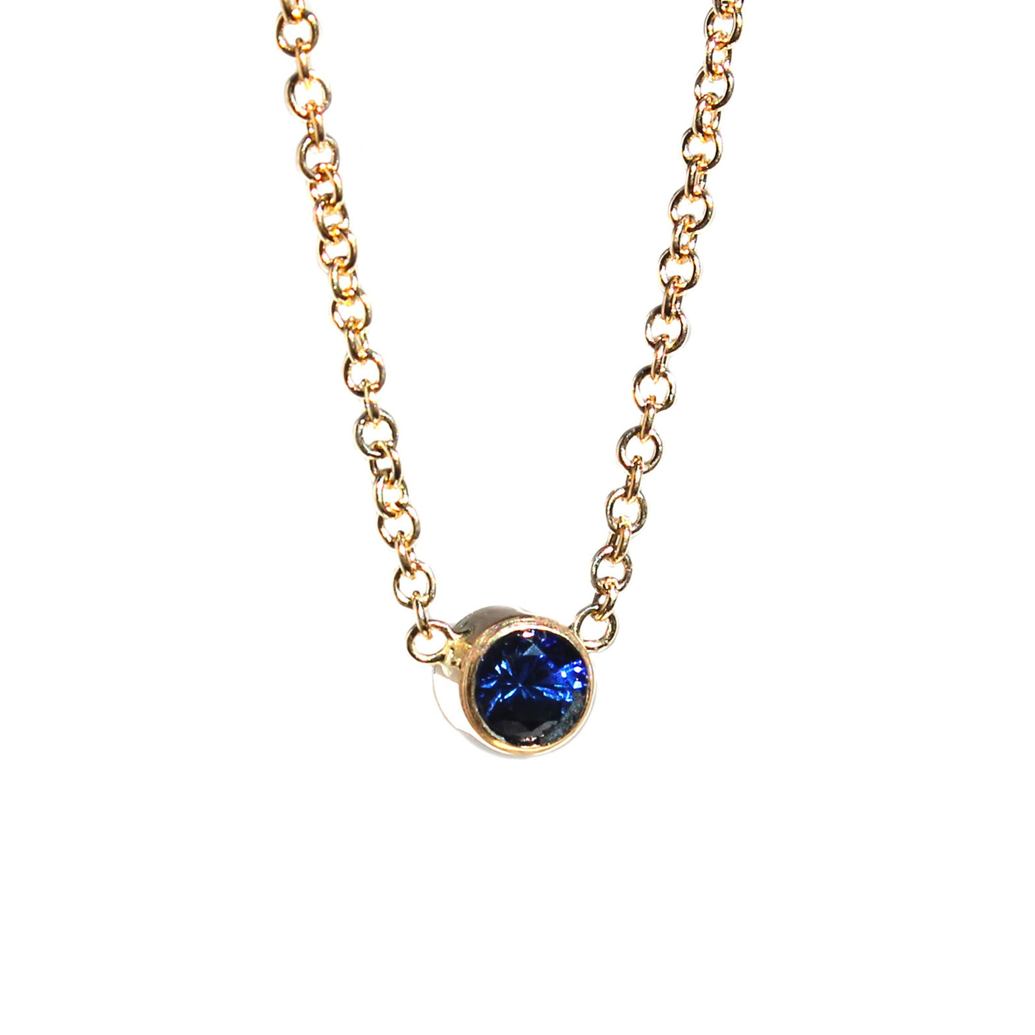 3 MM SAPPHIRE NECKLACE